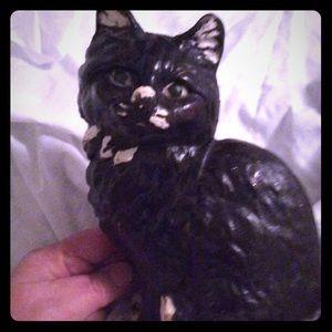 Vintage unsigned Hubley cast iron cat